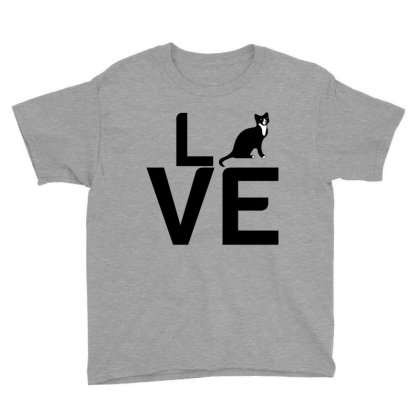 Cat Love Youth Tee Designed By Perfect Designers