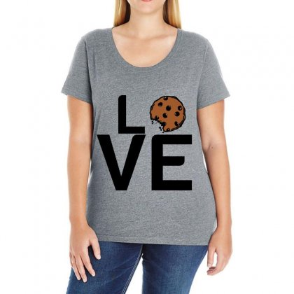 Cookie Love Ladies Curvy T-shirt Designed By Perfect Designers