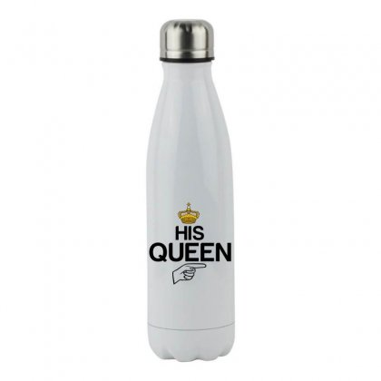 Couple His Queen Stainless Steel Water Bottle Designed By Perfect Designers