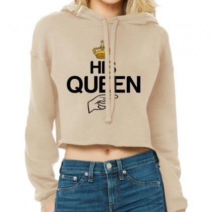 Couple His Queen Cropped Hoodie Designed By Perfect Designers