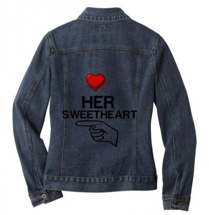Couple Her Sweetheart Ladies Denim Jacket Designed By Perfect Designers