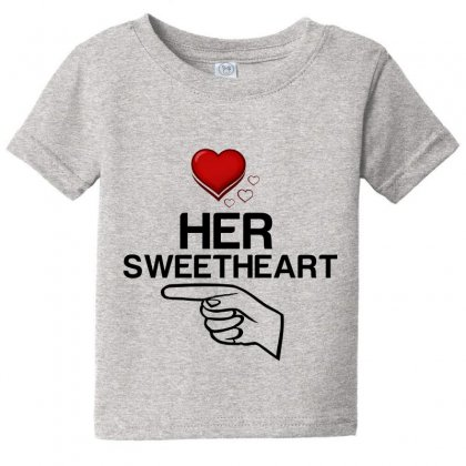 Couple Her Sweetheart Baby Tee Designed By Perfect Designers