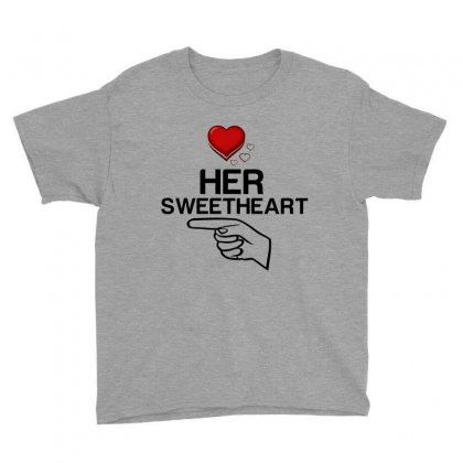 Couple Her Sweetheart Youth Tee Designed By Perfect Designers