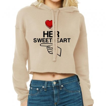 Couple Her Sweetheart Cropped Hoodie Designed By Perfect Designers