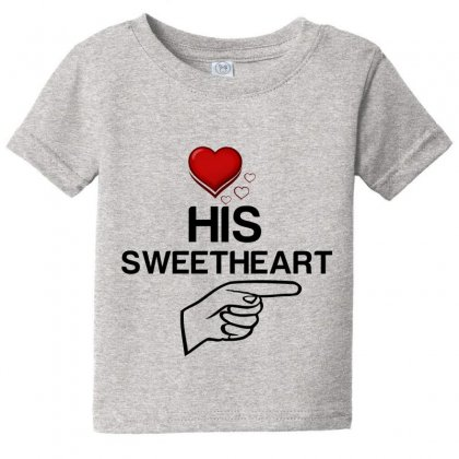 Couple His Sweetheart Baby Tee Designed By Perfect Designers