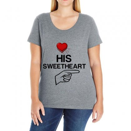 Couple His Sweetheart Ladies Curvy T-shirt Designed By Perfect Designers