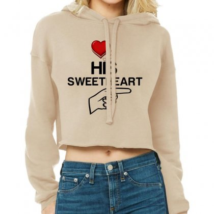 Couple His Sweetheart Cropped Hoodie Designed By Perfect Designers