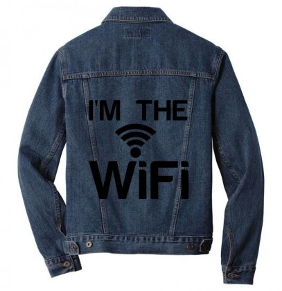 Couple I'm The Wifi Men Denim Jacket Designed By Perfect Designers