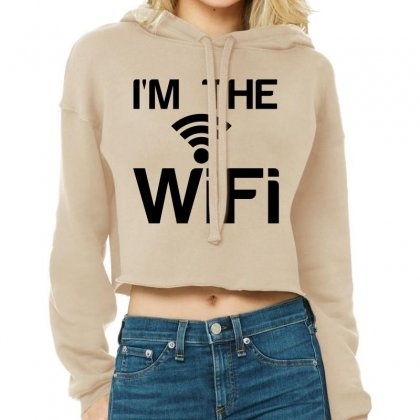 Couple I'm The Wifi Cropped Hoodie Designed By Perfect Designers