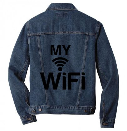 Couple My Wifi Men Denim Jacket Designed By Perfect Designers