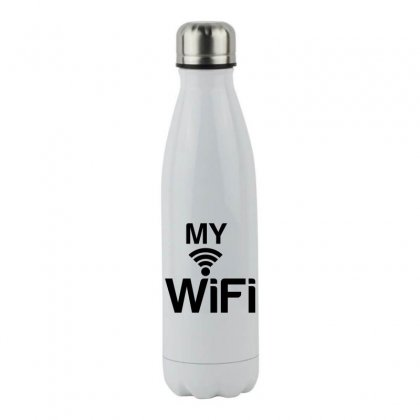 Couple My Wifi Stainless Steel Water Bottle Designed By Perfect Designers
