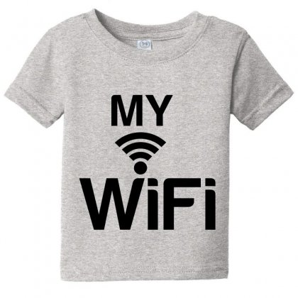 Couple My Wifi Baby Tee Designed By Perfect Designers