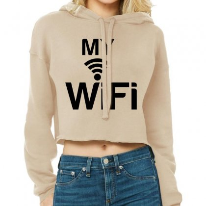 Couple My Wifi Cropped Hoodie Designed By Perfect Designers
