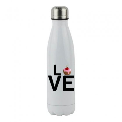 Cupcake Love Stainless Steel Water Bottle Designed By Perfect Designers