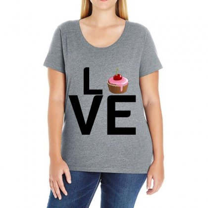 Cupcake Love Ladies Curvy T-shirt Designed By Perfect Designers