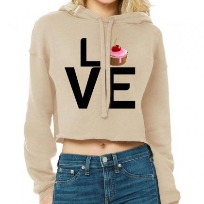 Cupcake Love Cropped Hoodie Designed By Perfect Designers