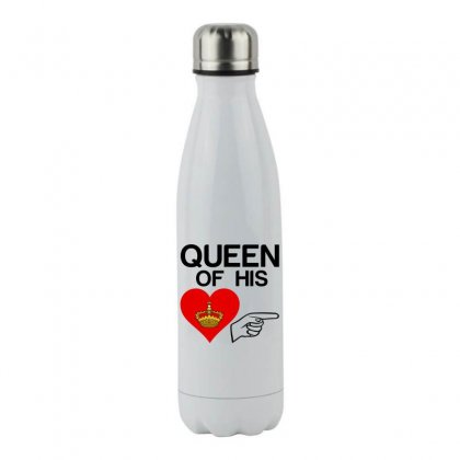 Couple Queen Of His Heart Stainless Steel Water Bottle Designed By Perfect Designers