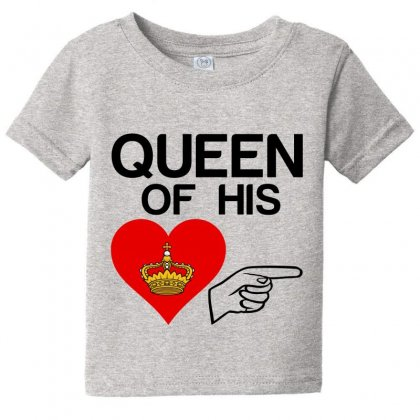 Couple Queen Of His Heart Baby Tee Designed By Perfect Designers