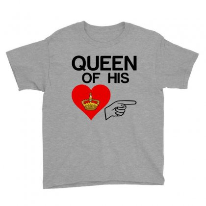 Couple Queen Of His Heart Youth Tee Designed By Perfect Designers