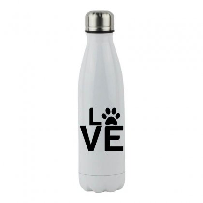 Dog Paw Love Stainless Steel Water Bottle Designed By Perfect Designers