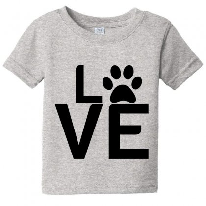 Dog Paw Love Baby Tee Designed By Perfect Designers