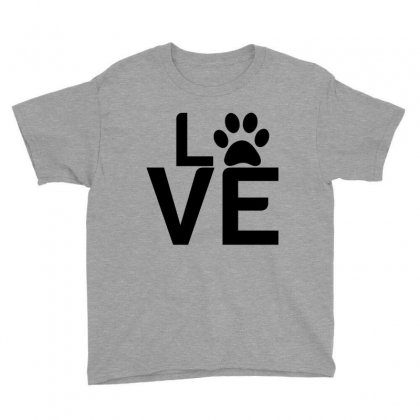 Dog Paw Love Youth Tee Designed By Perfect Designers