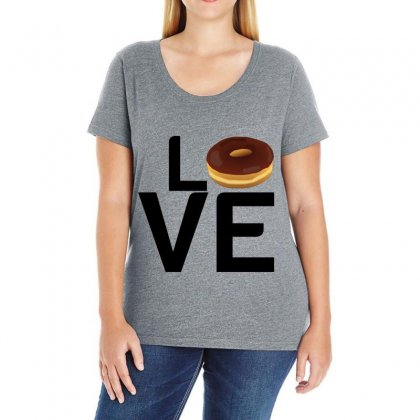 Donut Love Ladies Curvy T-shirt Designed By Perfect Designers