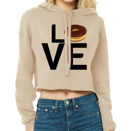 Donut Love Cropped Hoodie Designed By Perfect Designers