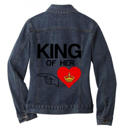 Couple King Of Her Heart Ladies Denim Jacket Designed By Perfect Designers