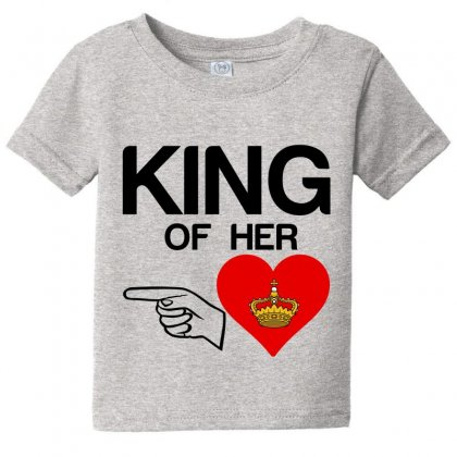 Couple King Of Her Heart Baby Tee Designed By Perfect Designers