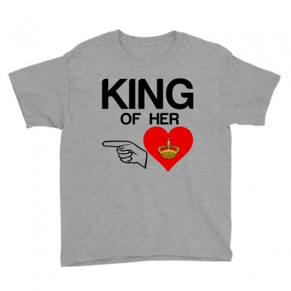 Couple King Of Her Heart Youth Tee Designed By Perfect Designers