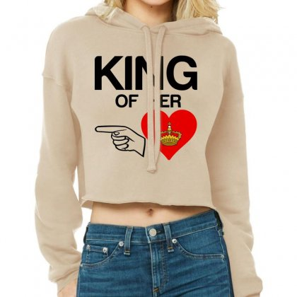 Couple King Of Her Heart Cropped Hoodie Designed By Perfect Designers