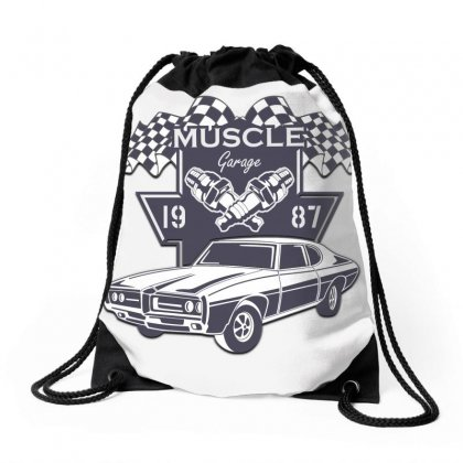 Muscle Cars Drawstring Bags Designed By Samantha