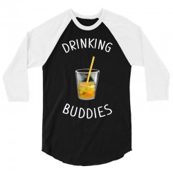 watercolor drinking buddies family matching juice 3/4 Sleeve Shirt | Artistshot