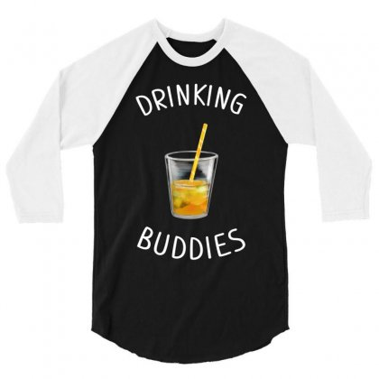 Watercolor Drinking Buddies Family Matching Juice 3/4 Sleeve Shirt Designed By Toweroflandrose