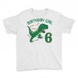 dinosaurs family matching birthday girl for age 6 Youth Tee | Artistshot