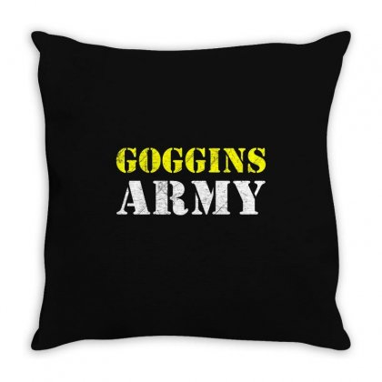 What Would Goggings Do Throw Pillow Designed By Disgus_thing