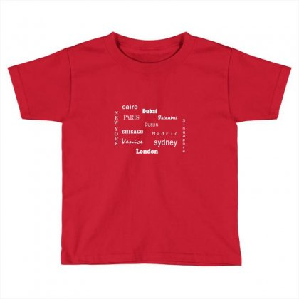 Famous Cities Toddler T-shirt Designed By Lulu50