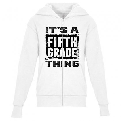 Fifth Grade Thing Youth Zipper Hoodie Designed By Ale C. Lopez