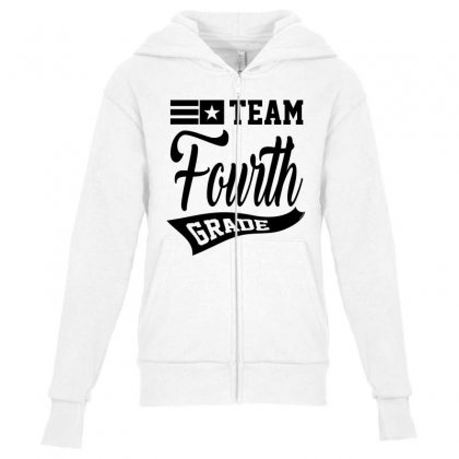 Team Fourth Grade Youth Zipper Hoodie Designed By Ale C. Lopez