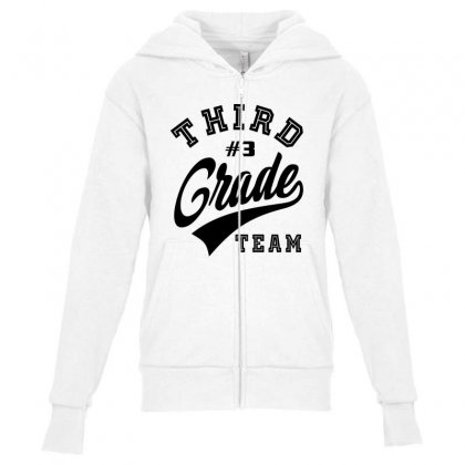 Third Grade Team Youth Zipper Hoodie Designed By Ale C. Lopez