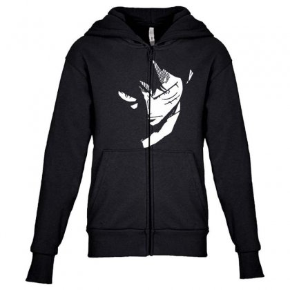 Anime Boy Youth Zipper Hoodie Designed By Disgus_thing