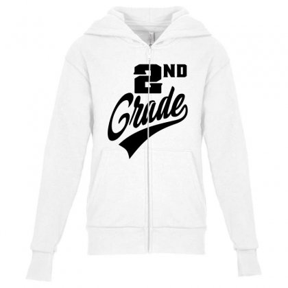 2nd Grade Youth Zipper Hoodie Designed By Ale C. Lopez