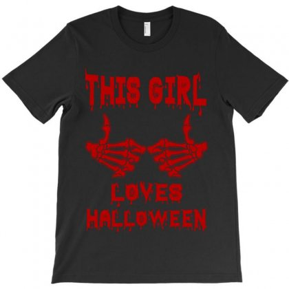 Halloween 2019 This Girl Loves Halloween T-shirt Designed By Twinklered.com