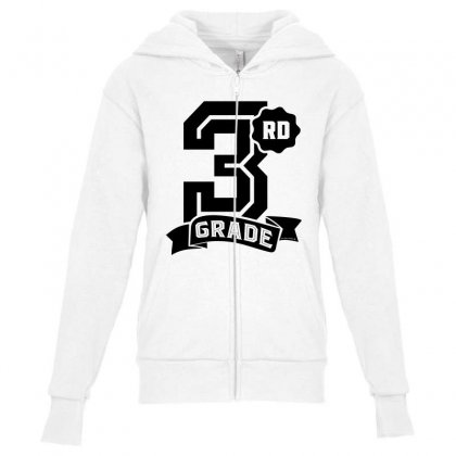 3rd Grade Youth Zipper Hoodie Designed By Ale C. Lopez