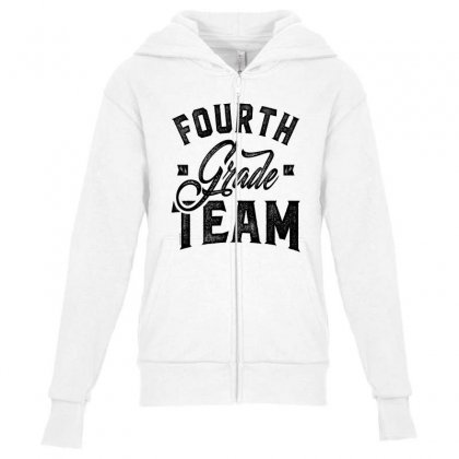 Fourth Grade Team Youth Zipper Hoodie Designed By Ale C. Lopez