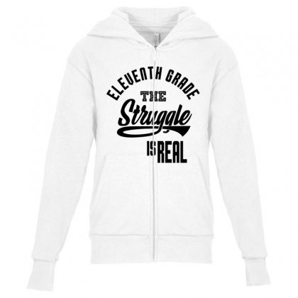 Eleventh Grade The Struggle Youth Zipper Hoodie Designed By Ale C. Lopez