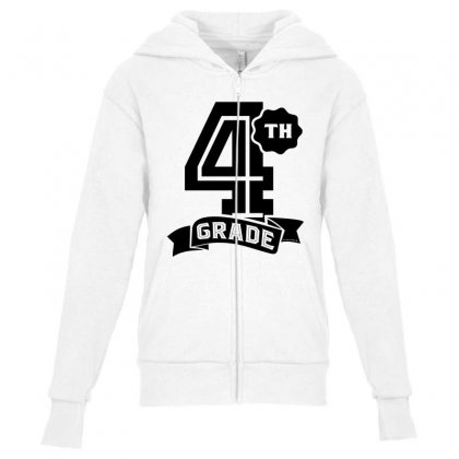 4th Grade Youth Zipper Hoodie Designed By Ale C. Lopez