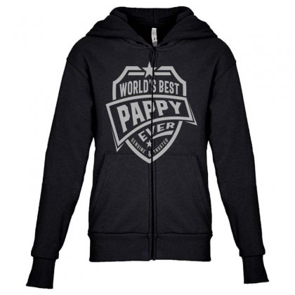 World's Best Pappy Ever Youth Zipper Hoodie Designed By Cidolopez