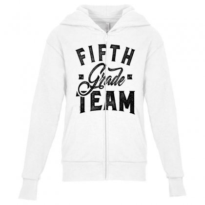 Team Fifth Grade Youth Zipper Hoodie Designed By Ale C. Lopez